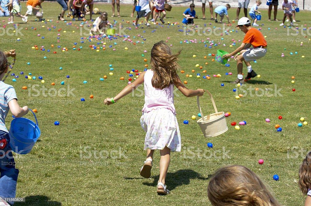Easter Egg Scramble royalty-free stock photo