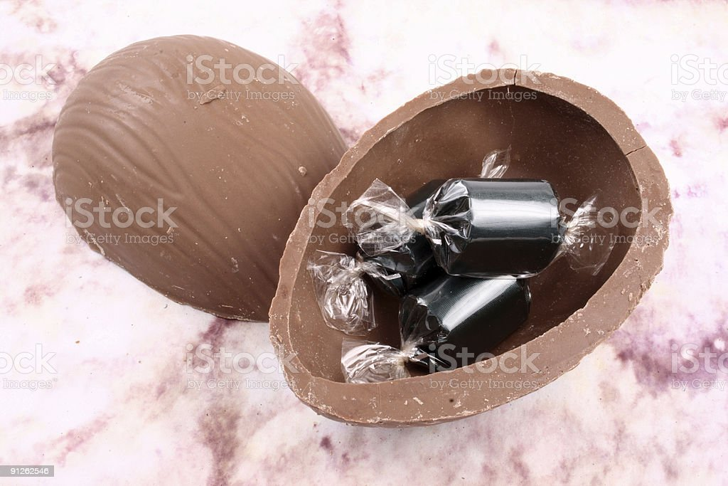 Easter egg stuffed royalty-free stock photo