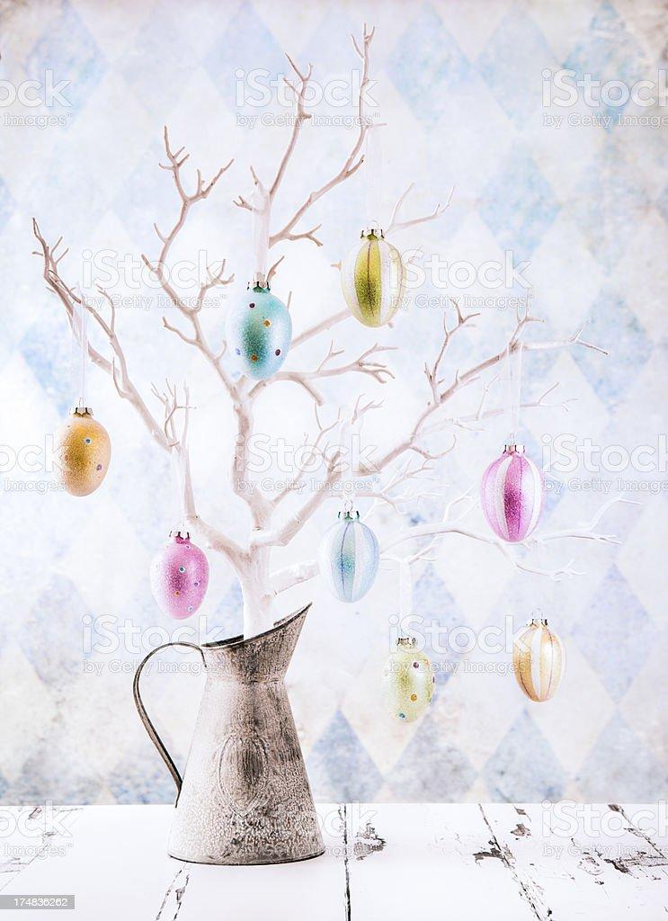 Easter Egg Tree stock photo