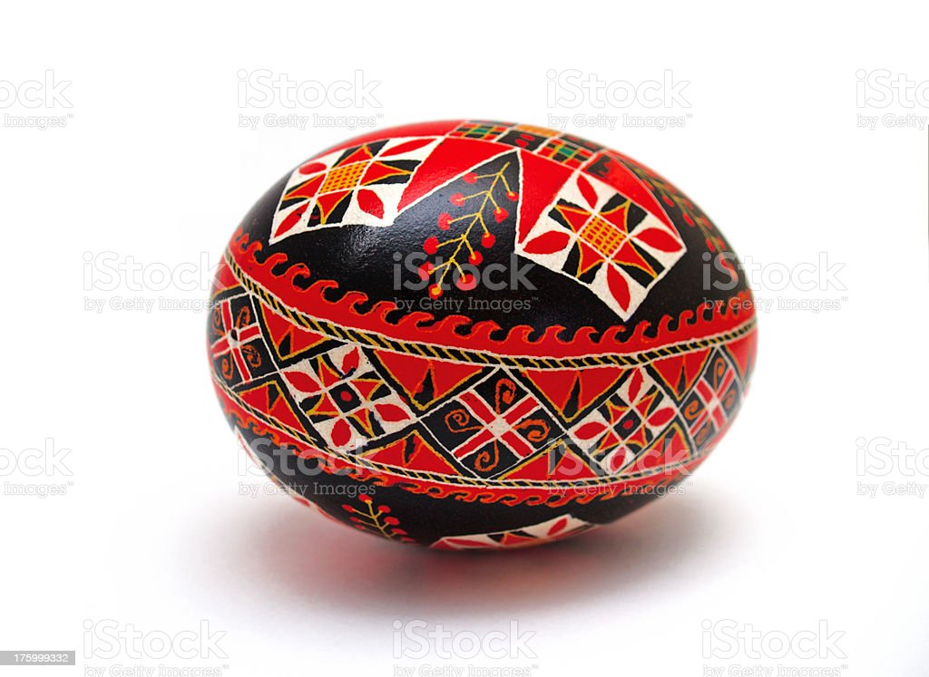 Easter egg with clipping path royalty-free stock photo