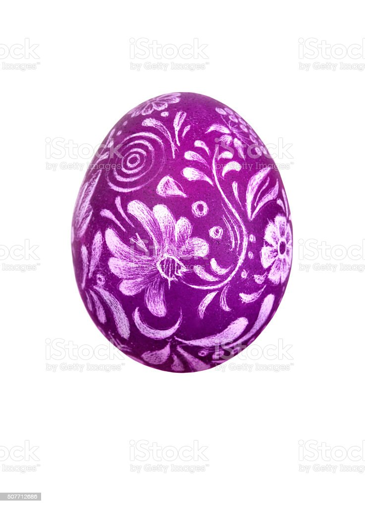 Easter egg with ornament stock photo