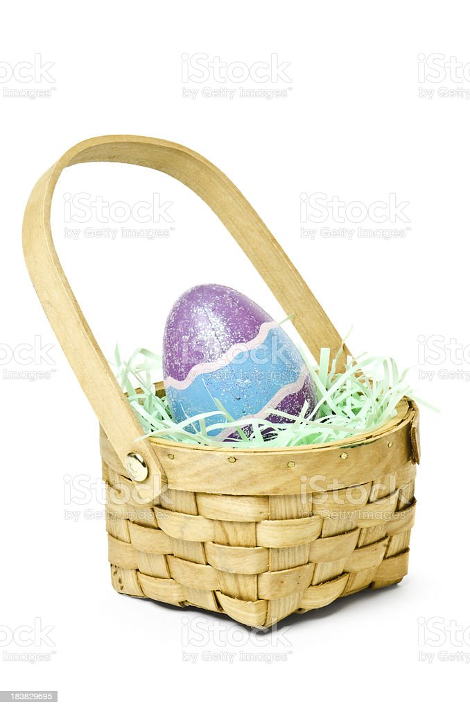 Easter Eggs & Basket royalty-free stock photo