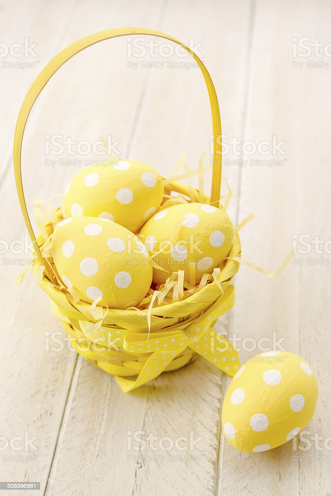Easter Eggs and Baskets royalty-free stock photo