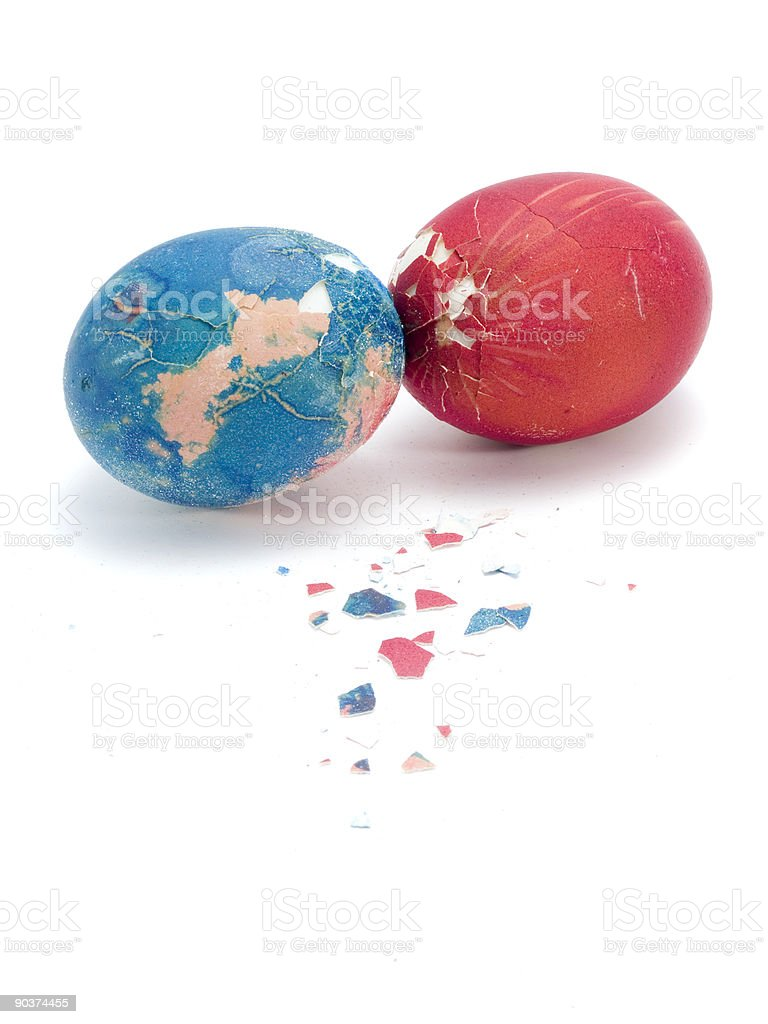 Easter Eggs Fight royalty-free stock photo