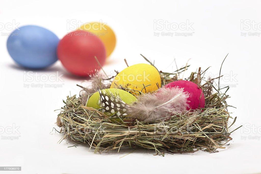 Ostereier im Nest royalty-free stock photo