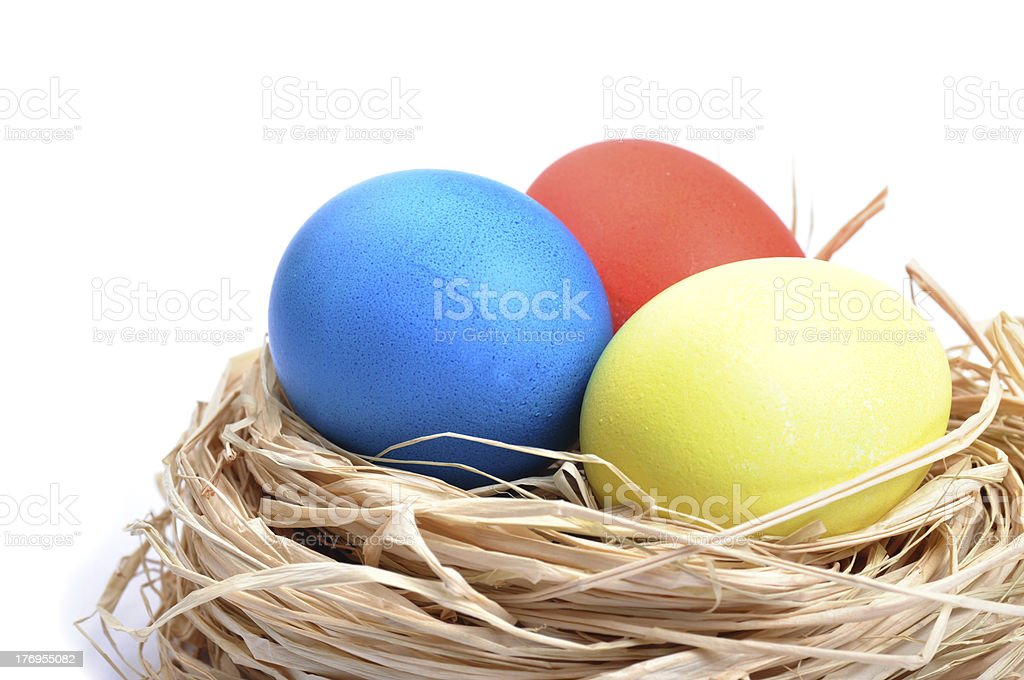 easter eggs isolated on white background royalty-free stock photo