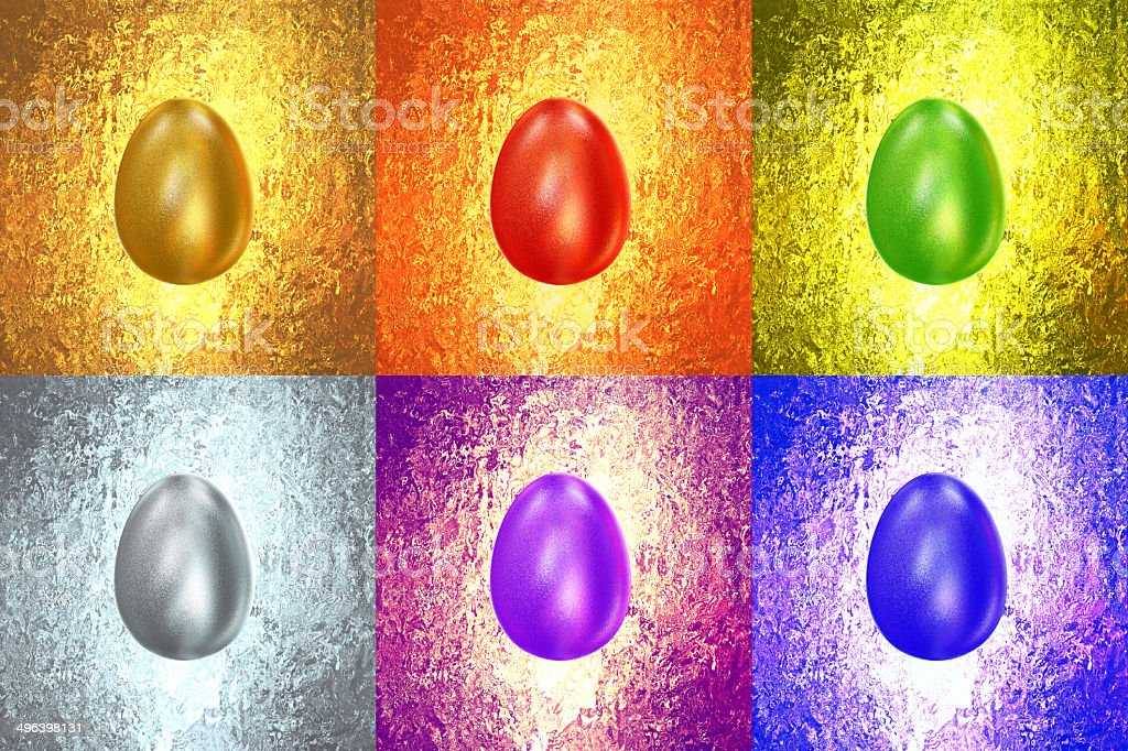 Easter Eggs of different colors royalty-free stock photo