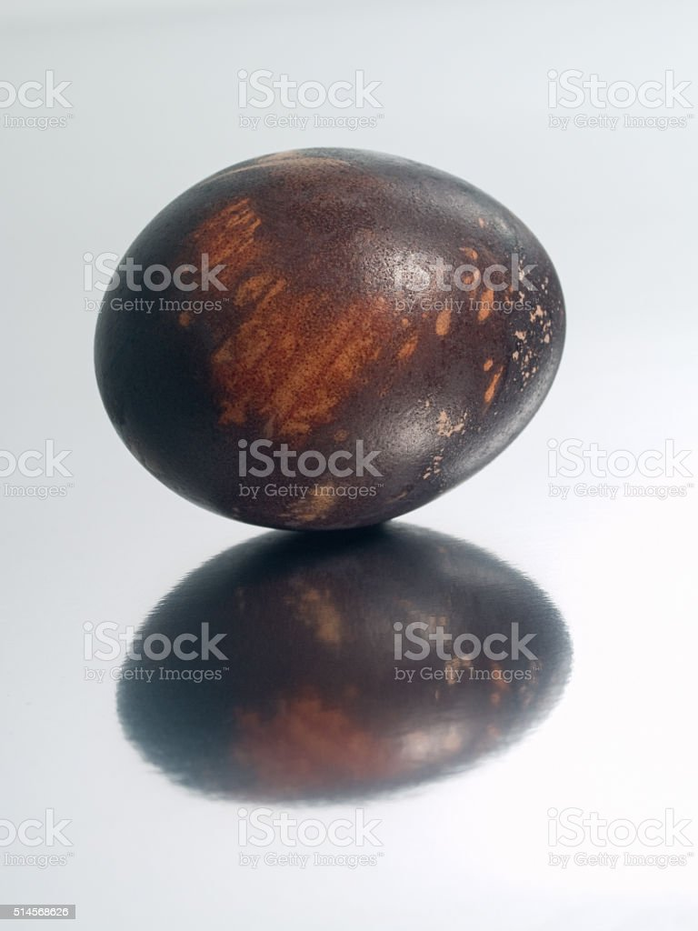 Easter eggs on the mirror royalty-free stock photo