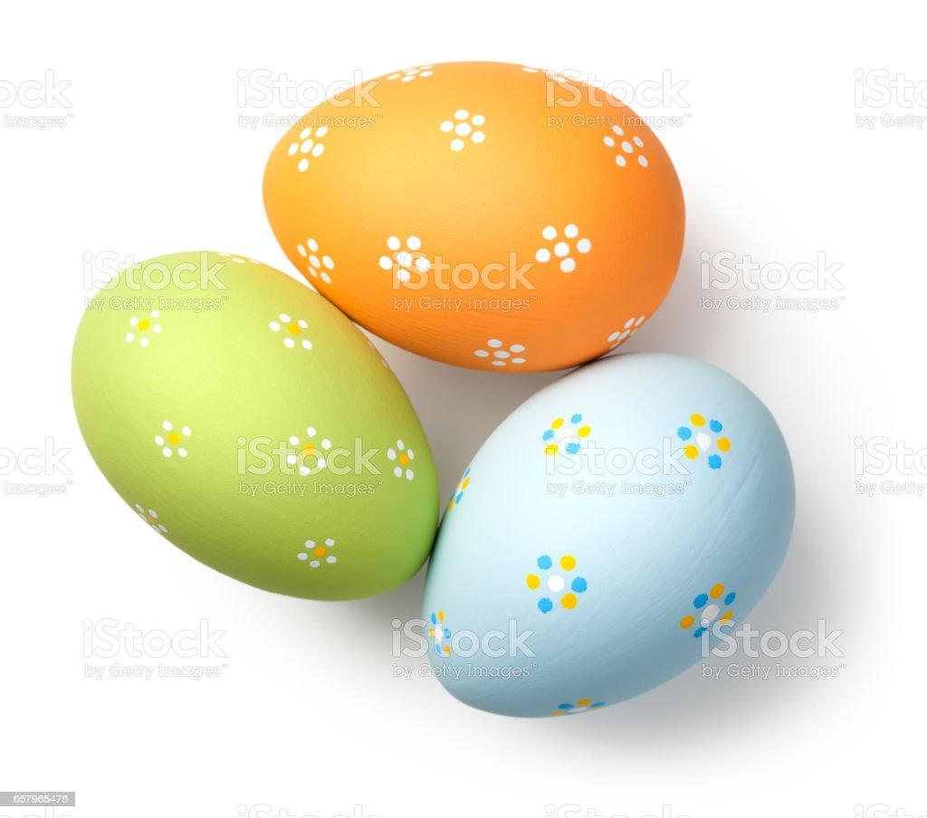 Easter Eggs on White stock photo
