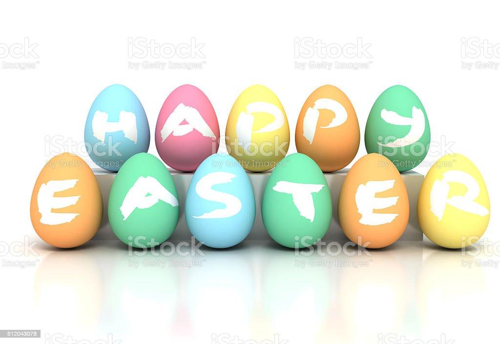 Easter Eggs on white - Stock image stock photo