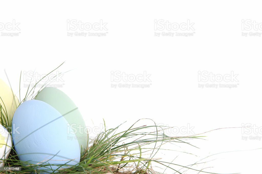 Easter eggs pastels royalty-free stock photo