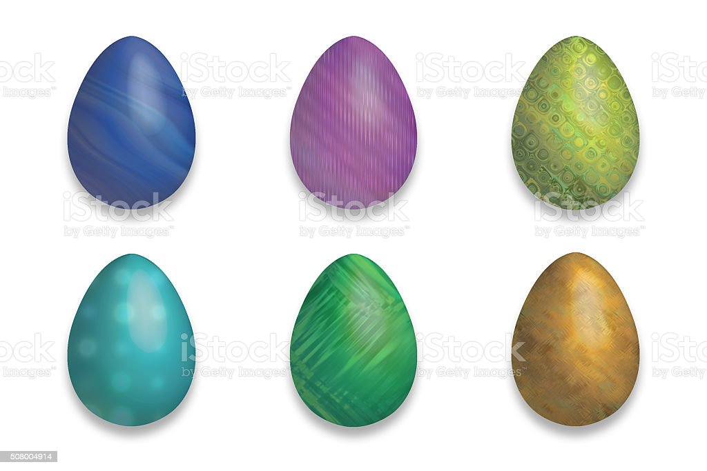Easter eggs with fluo color and decorated stock photo