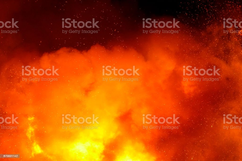 Easter Fire stock photo