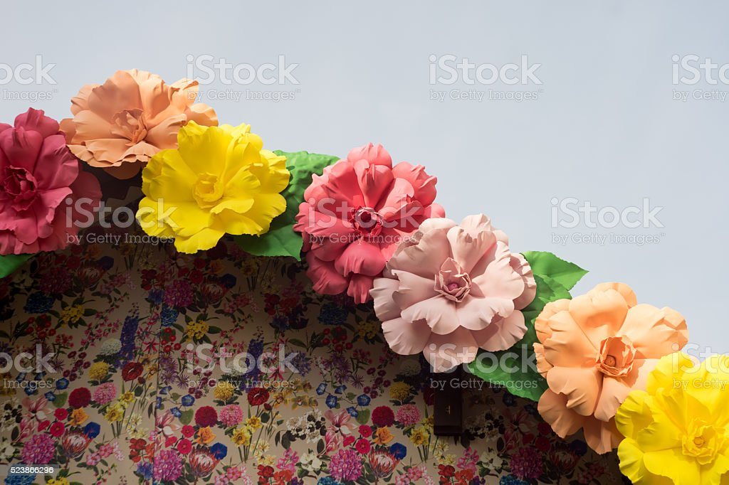 Easter Flower Decorations stock photo