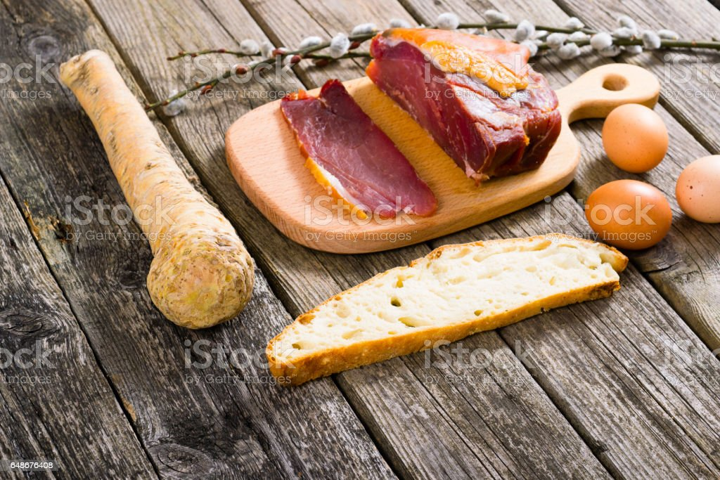 Easter foods stock photo