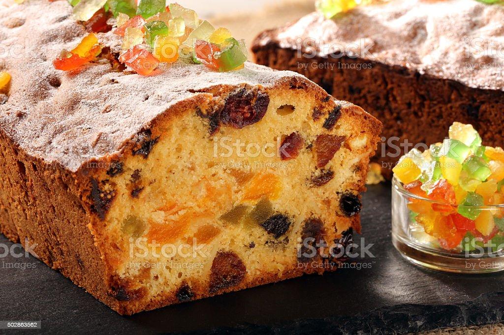Easter fruitcake on the stone background stock photo