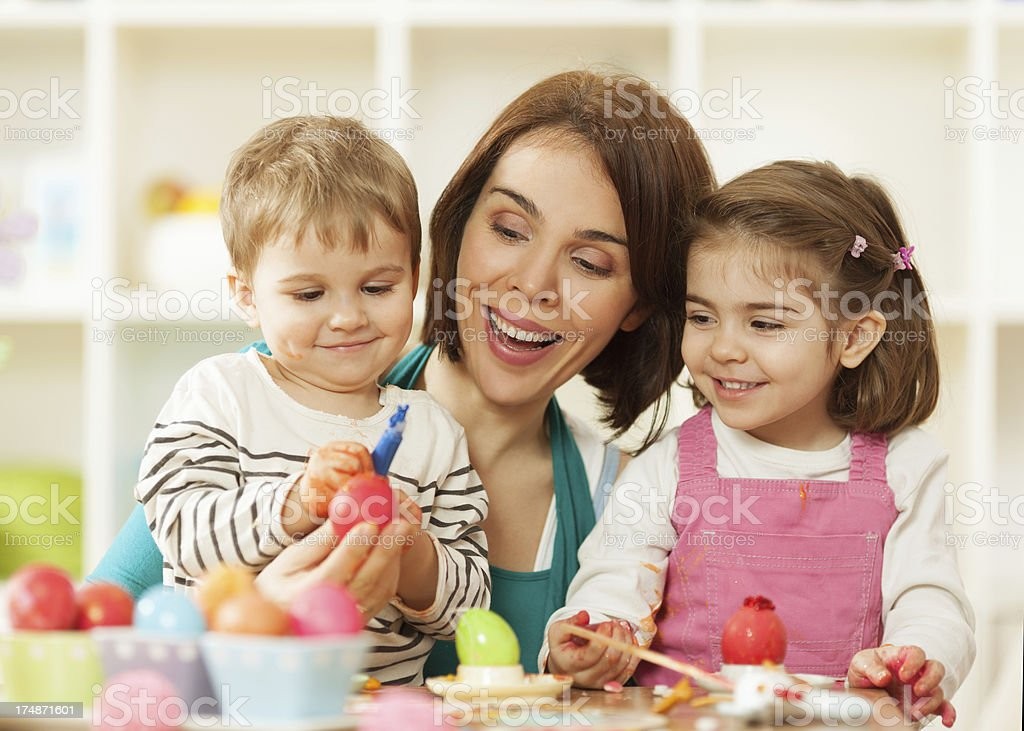 Easter fun and joy royalty-free stock photo