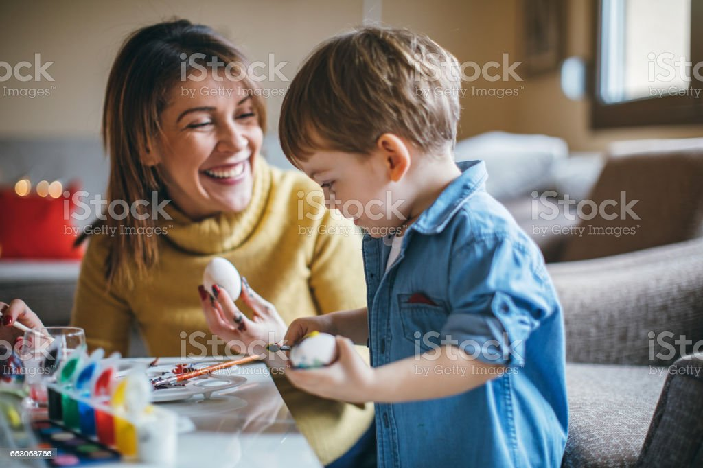 Easter fun and joy stock photo