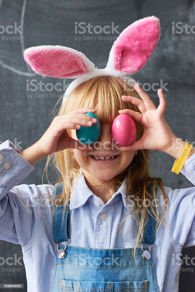 Easter fun stock photo