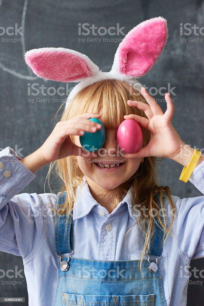 Easter fun stock photo