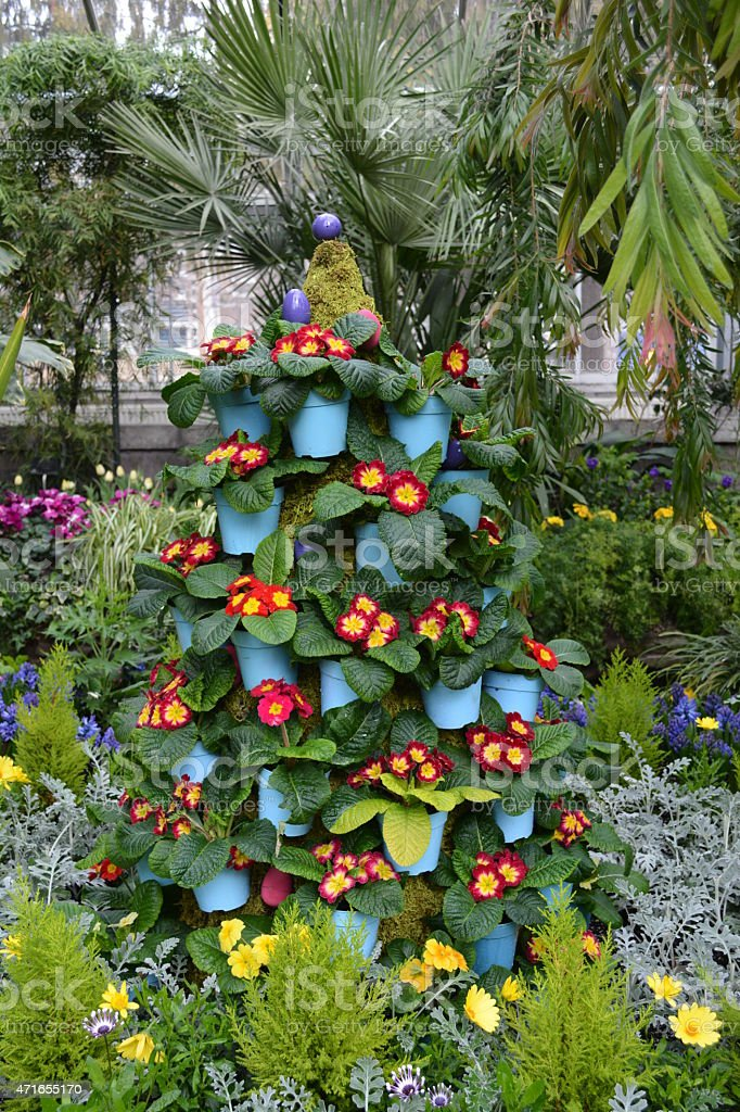 Easter Garden Landscaping in Toronto, Canada stock photo