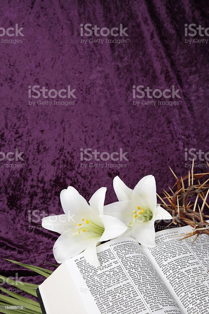 Easter, Good Friday and Palm Sunday stock photo