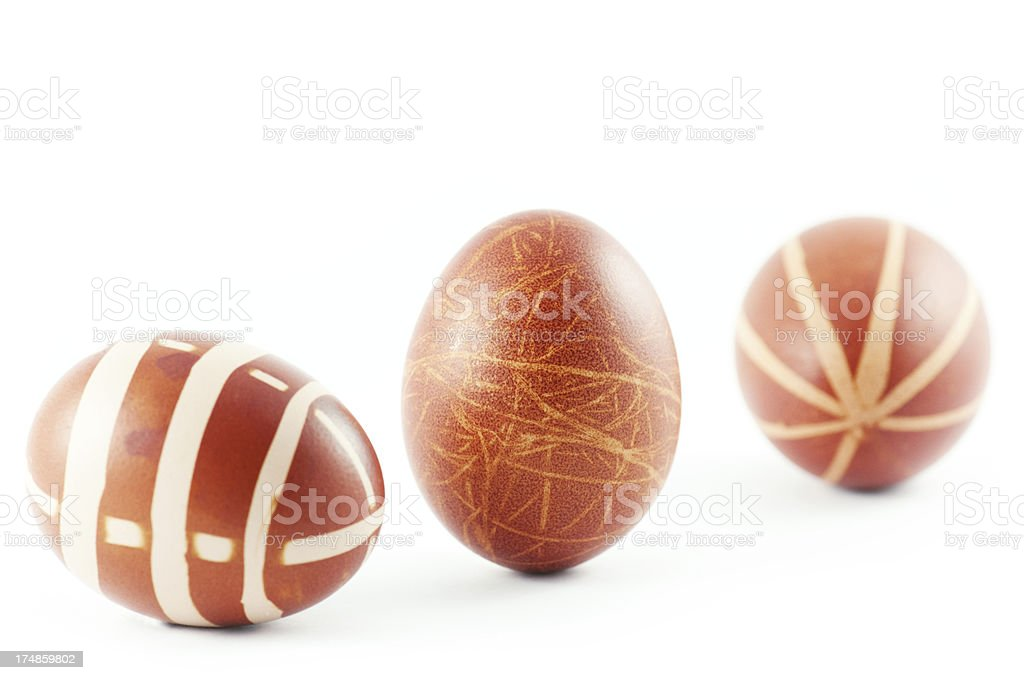 Easter Home Painted Eggs royalty-free stock photo