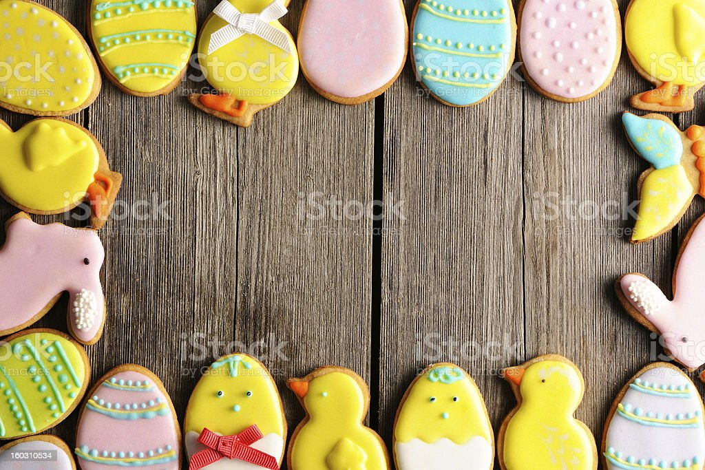 Easter homemade gingerbread cookie royalty-free stock photo