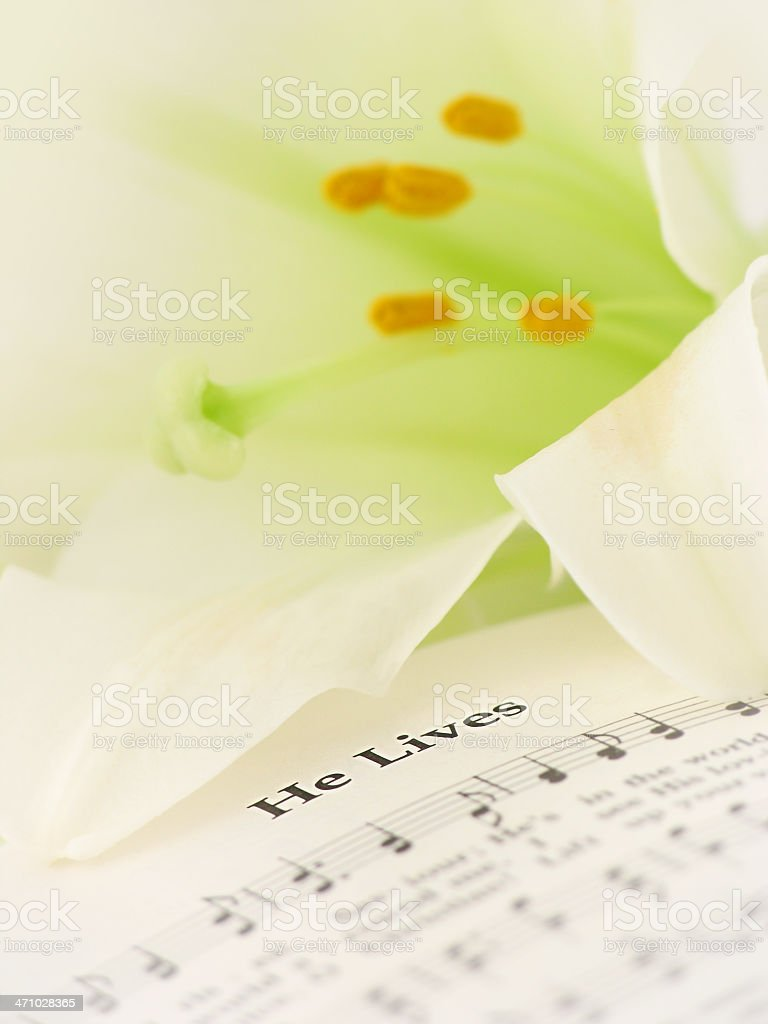 Easter Hymn - He Lives stock photo