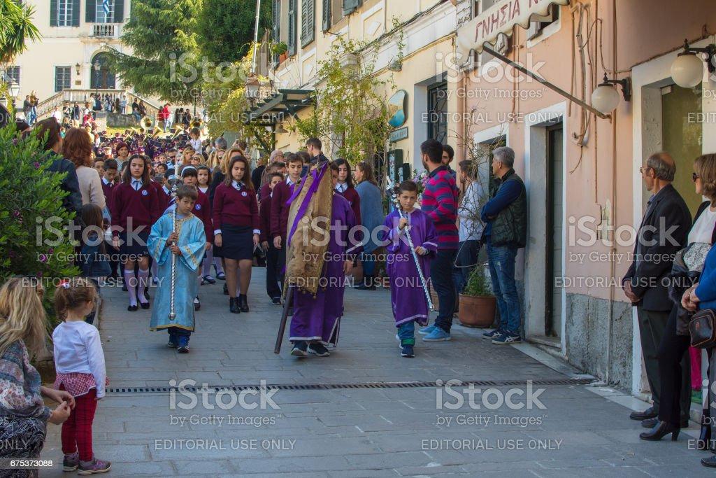 Easter in Corfu, Greece stock photo
