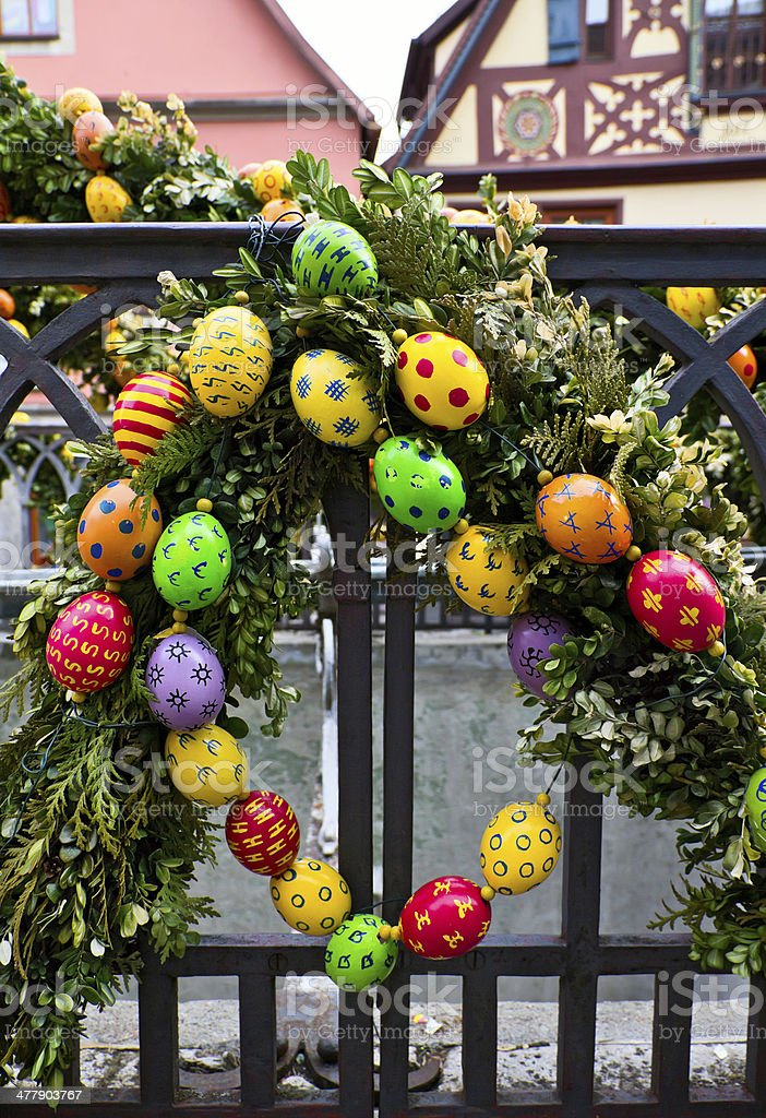 Easter in european city royalty-free stock photo