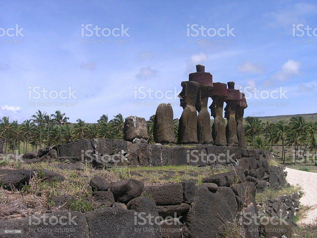 Easter Island - Ahu Nau Nau royalty-free stock photo