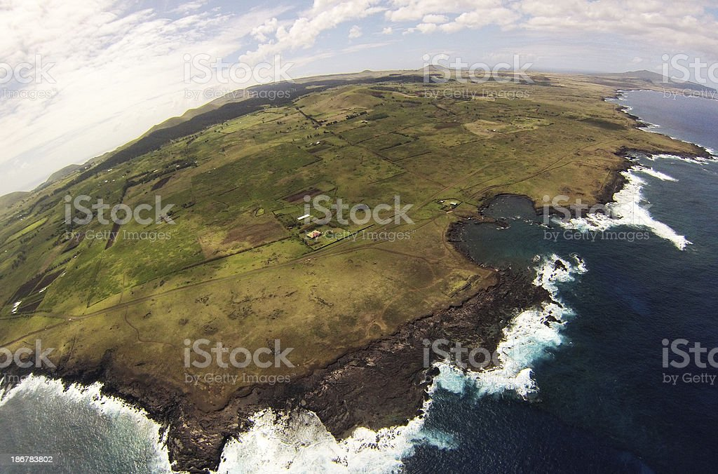 Easter Island East Coastline royalty-free stock photo