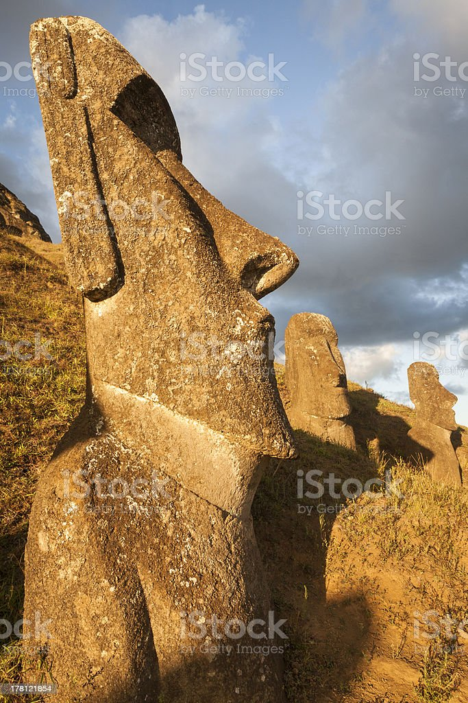 Easter Island. stock photo