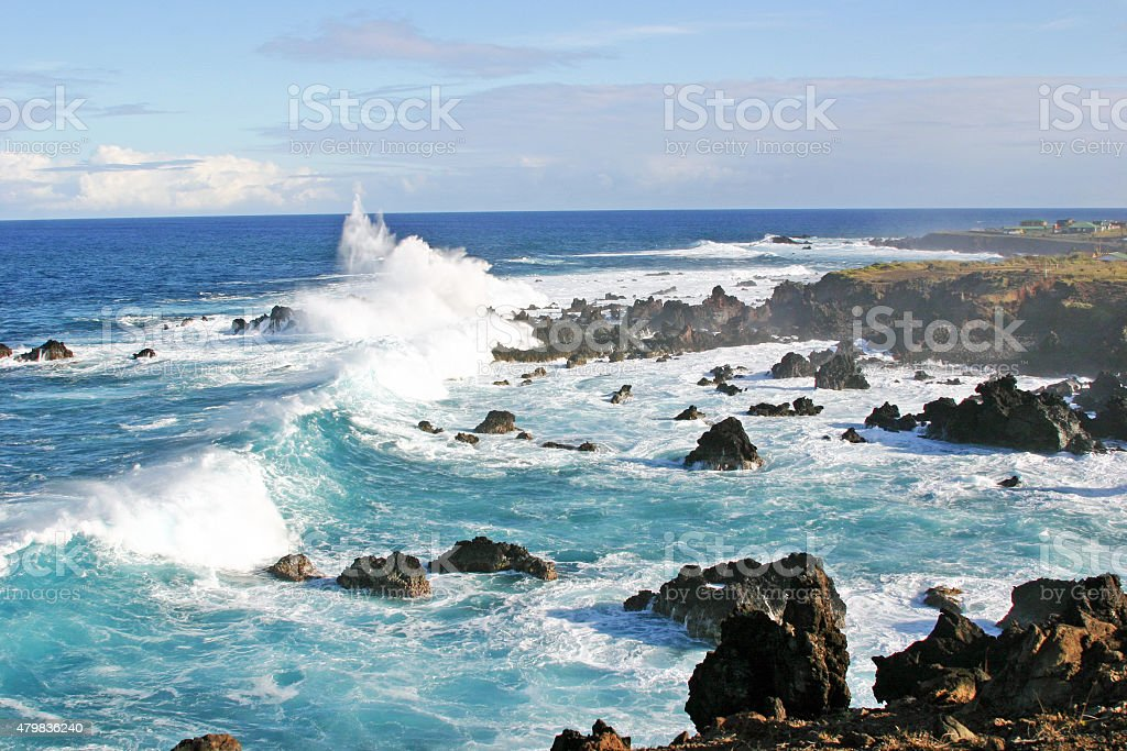 Easter Island Seascape stock photo