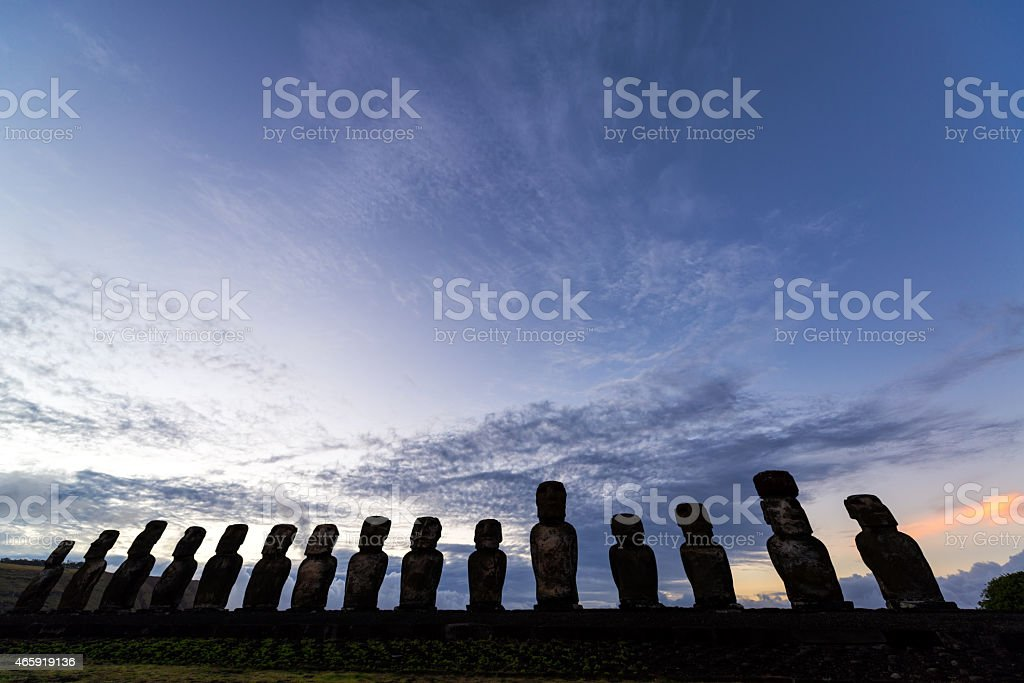 Easter Island Sunrise stock photo