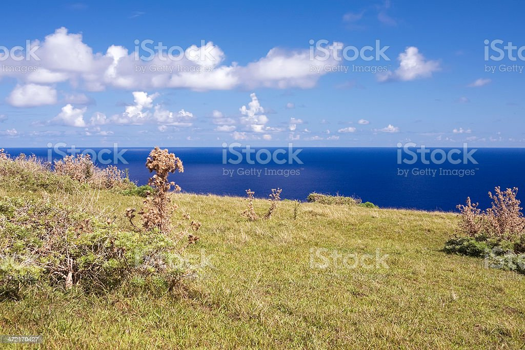 Easter Island view stock photo