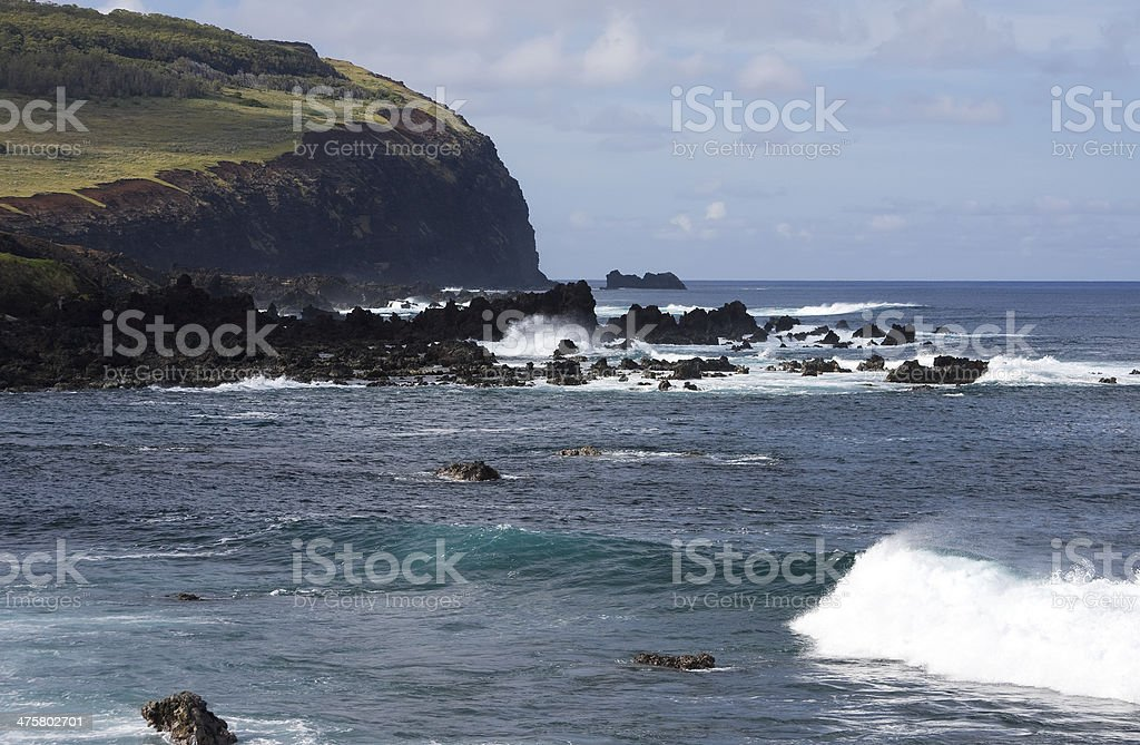 Easter Island view royalty-free stock photo