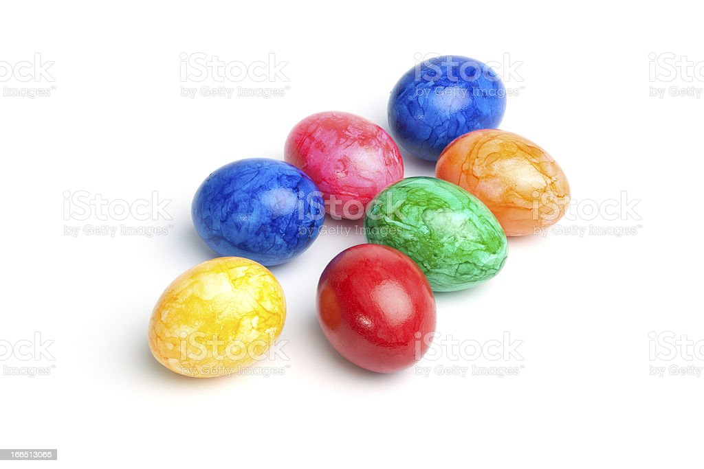 Easter - Isolated Colorful Eggs royalty-free stock photo