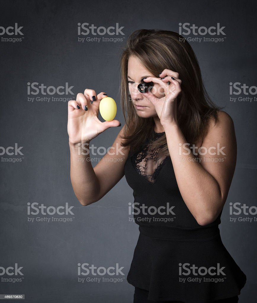 easter jewel quality control stock photo