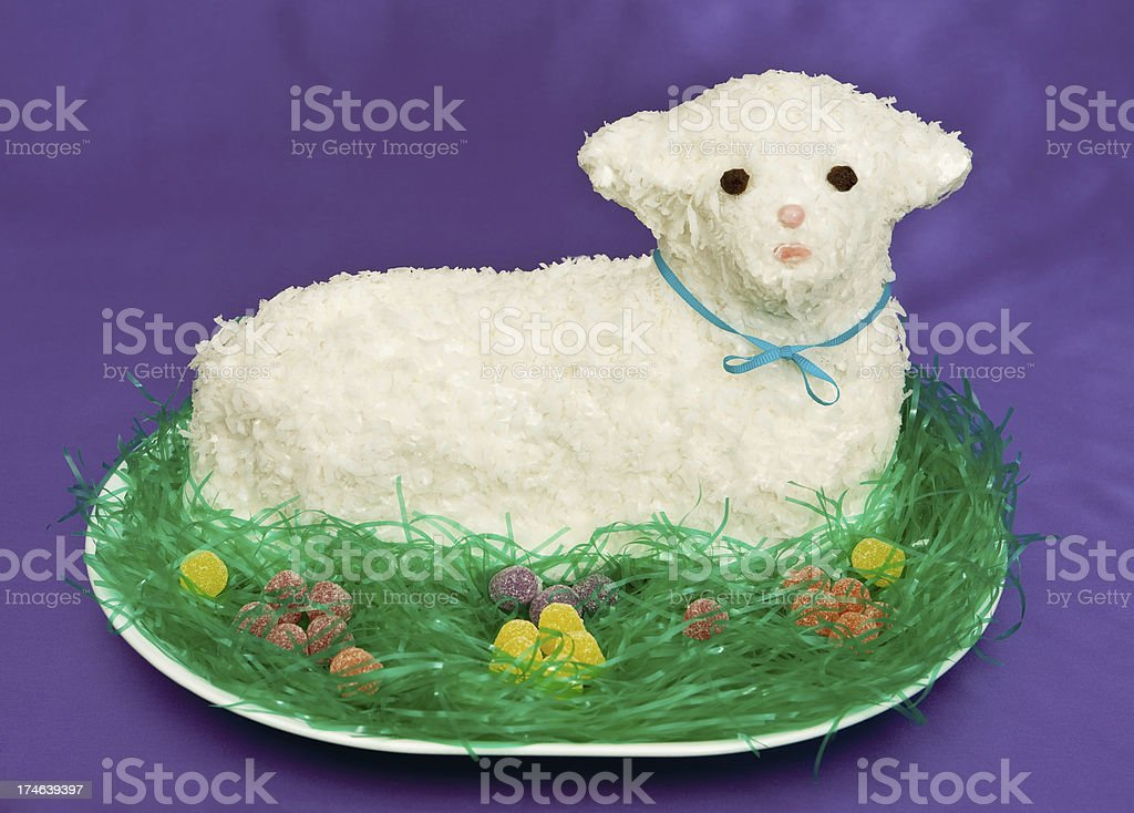 easter lamb cake royalty-free stock photo
