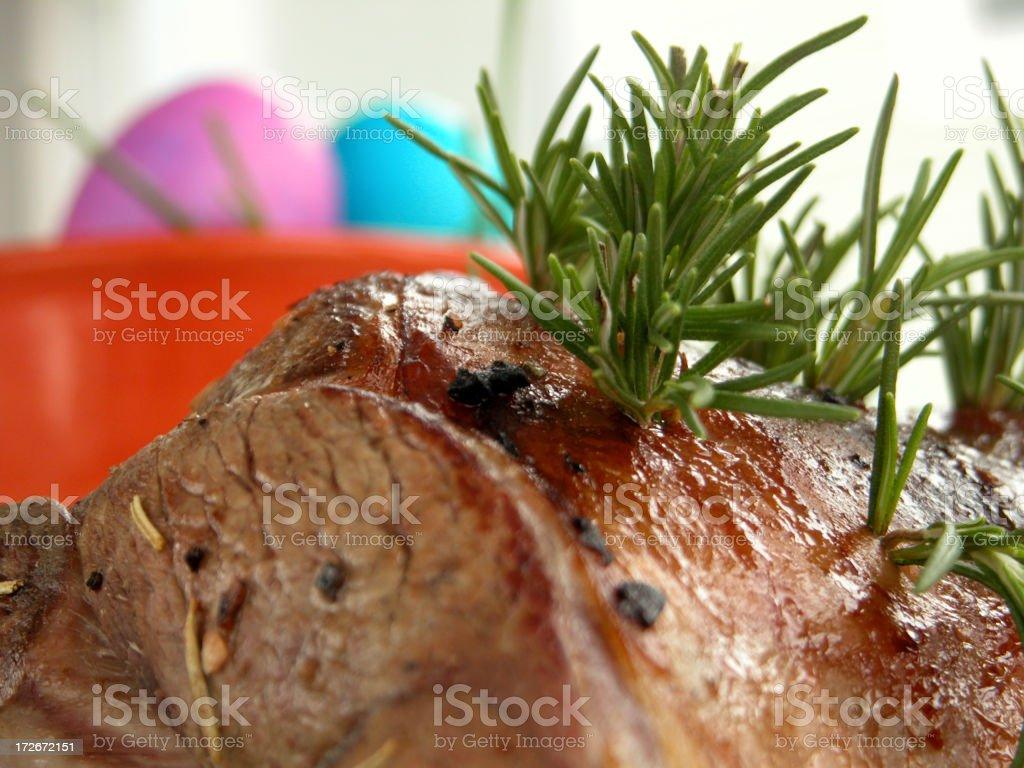 Easter Leg of Lamb II royalty-free stock photo
