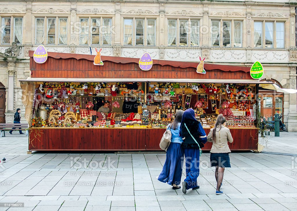 Easter Market Europe stock photo