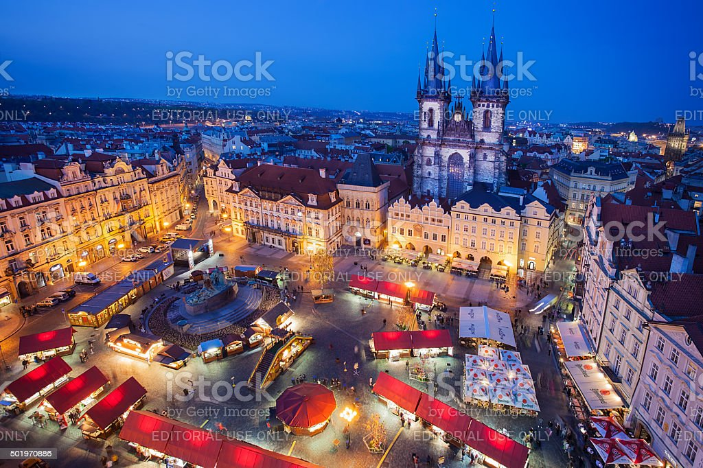 Easter Marketplace in  Prague stock photo
