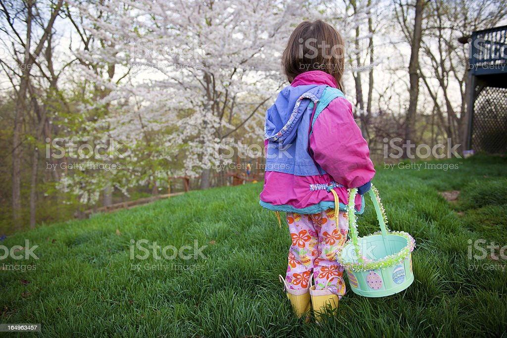 Easter Morning Egg Hunting (Series) royalty-free stock photo