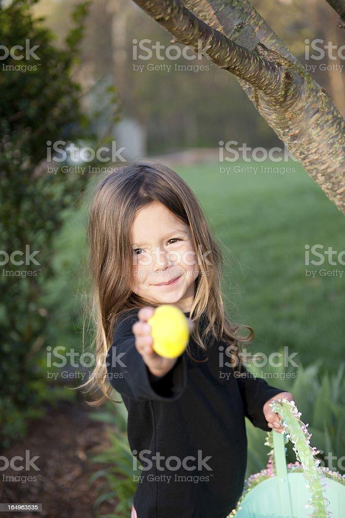 Easter Morning Egg Hunting (Series) stock photo