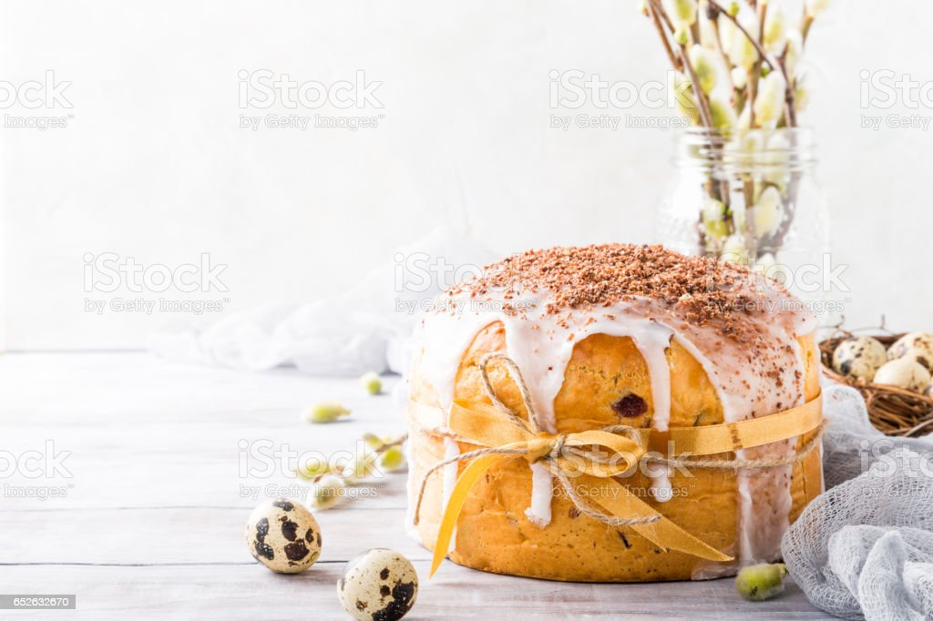 Easter orthodox sweet bread stock photo