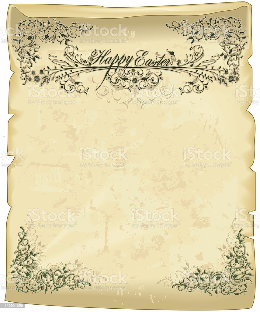 Easter parchment royalty-free stock photo