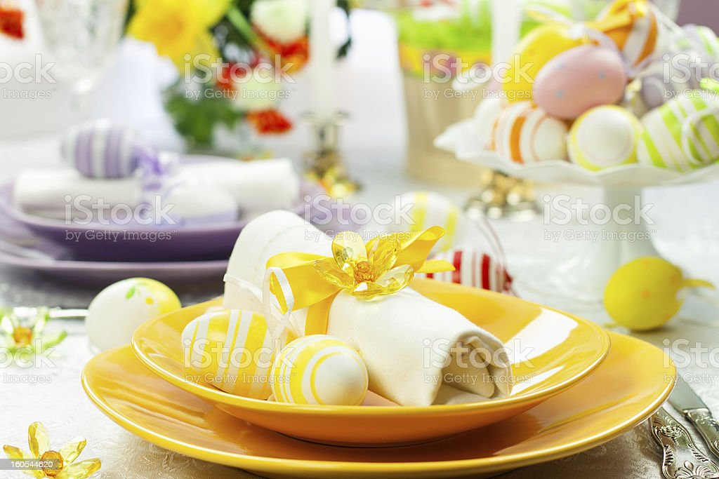 Easter Place Setting stock photo