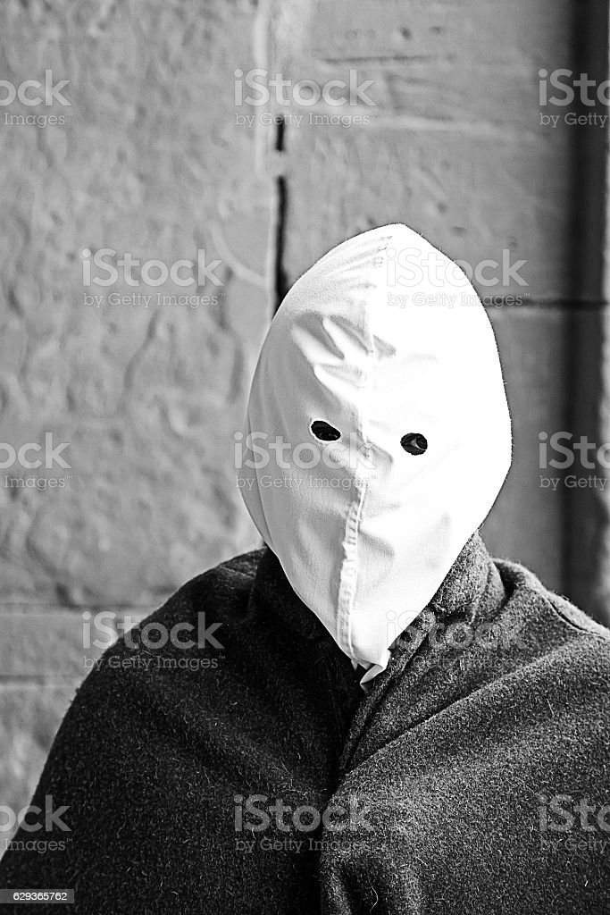 Easter procession executioner stock photo